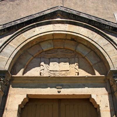 fronton du temple de Lapras